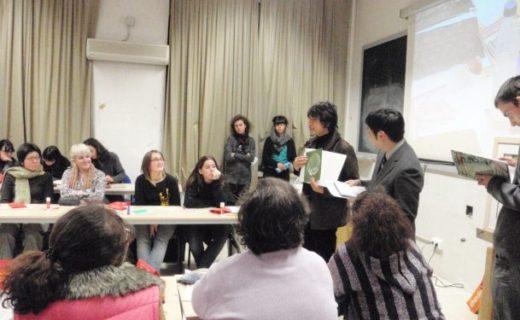 マドリード・コンプルテンセ大学の美術部学生とレクチャー&ワークショップを開催
