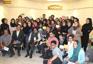 young artists of visual arts major at Tabriz art forum