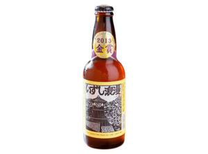 地ビール(いずし浪漫)ラベルデザイン