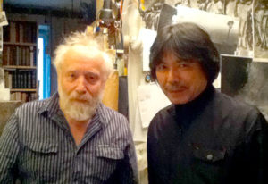 with animation creator who uses Kirié method, Yuri Norstein, at his atelier